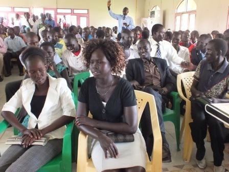 A section of Bor County Youth Association youth during the campaign in 2013. [Jacob Achiek Jok]