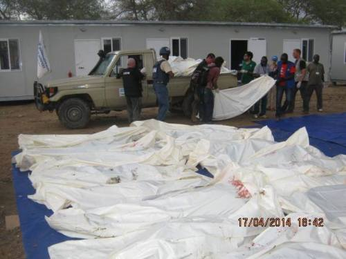 Unarmed IDPs massacred in UNMISS Compounds in Bor, Jonglie state, 17-04-2014(Photo:past files)