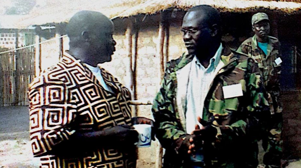 Dr.John Garang and Dr. Riek, 2003 in Rumbek, at SPLM Leadership Council Meeting (Photo credits: Mabior Garang)