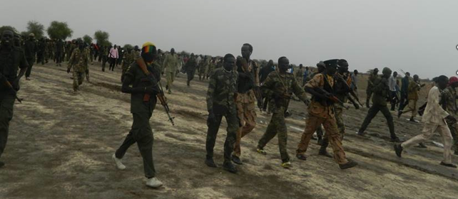 SPLA|M resistance army matching toward Bor in Jonglie state, 22-04-2014 ....