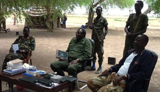 Dr. Riek Machar, with his troops in Nasir (Photo: supplied)