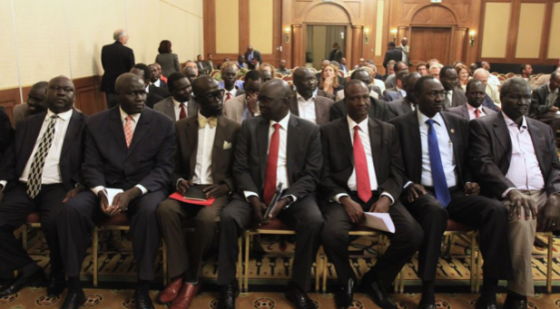 Members of South Sudan's SPLM delegation are seen at the opening ceremony of peace talks in Ethiopia's capital Addis Ababa, Jan. 4, 2014 (Photo: file)