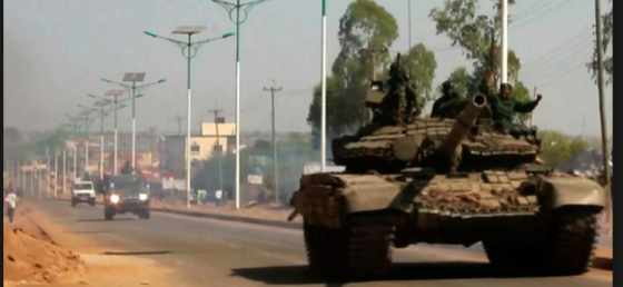 A tanks rolling on the streets of Juba in December 2013(Photo: file)