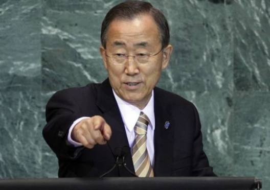 UN Secretary General, Ban Ki Moon, condemns the recent fighting in South Sudan(Photo: UN/Nyamilepedia)