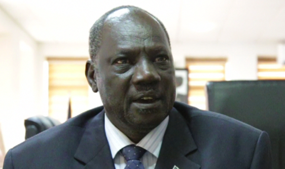 The Broadcasting & Information Minister at his office in Juba (Photo: via Samuel Lokudu)