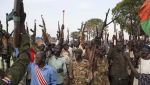 Members of the White Army, a South Sudanese anti-government militia, attend a rally in Nasir on April 14, 2014.(Photo:AFP)