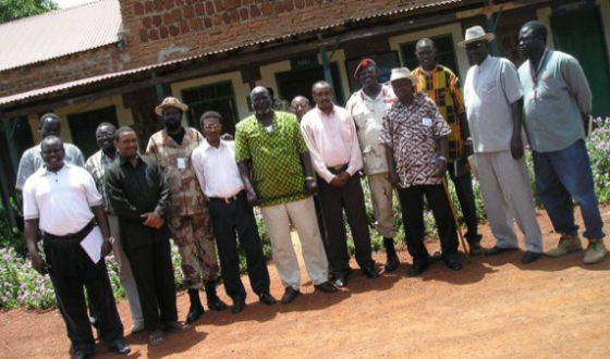 Dong Luak with the SPLM leaders in Rumbek, 2004(Photo: Dong)