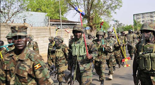 UPDF sweeping Juba hospital in February (Photo: Kennedy Oryema)