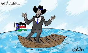 Salva Kiir, the South Sudanese president finds himself in an empty boats as his political allies are deserting him(Photo credits: Kulan)