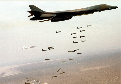 At the invitation of the South Sudan's Salva Kiir, Uganda has been accused of using the internationally banned clusters bombs on the civilians. Nuer populations have been killed at the training centers and at the UN base in Bor and other killed in Juba(Photo credites: U.S. Air Force)