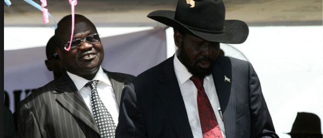 Dr. Riek Machar and his former boss, Salva Kiir (Photo: supplied)