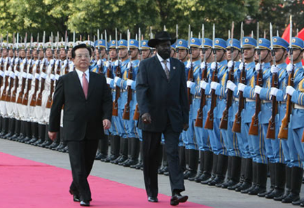 Salva Kiir in China in 2012 on a trip to borrow loans from the Chinese government. China declined but referred Salva Kiir to a private company that was kicked out of Juba in January 2012(Photo: supllied)