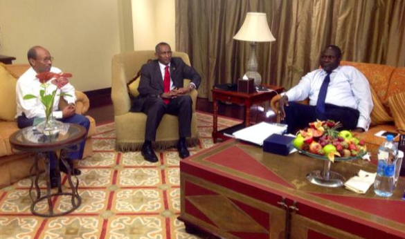 Former vice president, Dr. Riek Machar Teny, at the state Palace In Djibouti(Photo: By Hatim Cuei|Nyamilepedia)