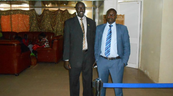 James Kok Ruea and Gordon Buay Malek traveling to Washington(Photo: Buay)