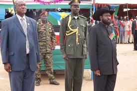 South Sudan's minister of defense with president Salva Kiir Mayardiit(Photo: supplied)