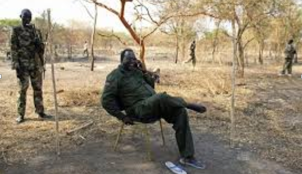 Former Vice president, Dr. Riek Machar in Jonglei state in January(Photo: supplied)