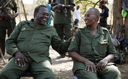 "Steve Paterno: ""They just found themselves, committing the same crime, hence, they are forced to run and hide together"", Paterno's Picture of Former Vice President, Dr. Riek Machar.(Photo: Supplied)"