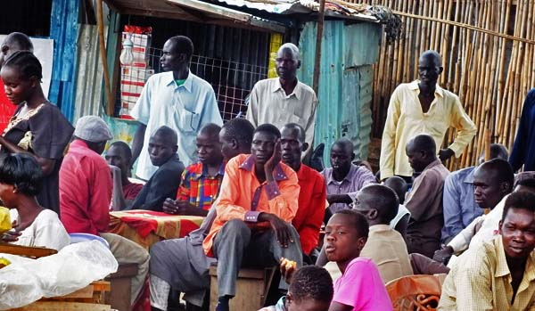 A group of unemployed youth during a recent meeting in Juba. [Photo: Via Gurtong]