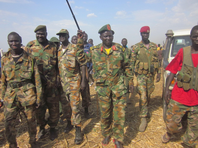 Gen. Siddam Chayot Manyang leading his forces in Upper Nile(Photo: Gaajaak/Nyamilepedia)