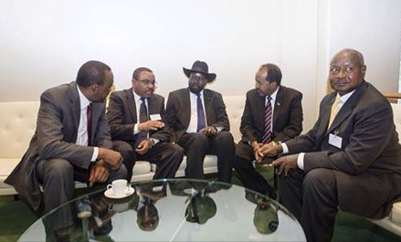 The IGAD leaders meeting on a sideline in New York(Photo: supplied)