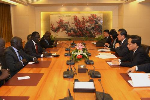 SPLM-IO delegation meeting members of Chinese Government in China(Photo: Puoch/Nyamilepedia)