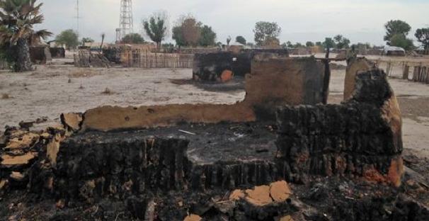 Image result for houses burn down  in Pigi jonglei