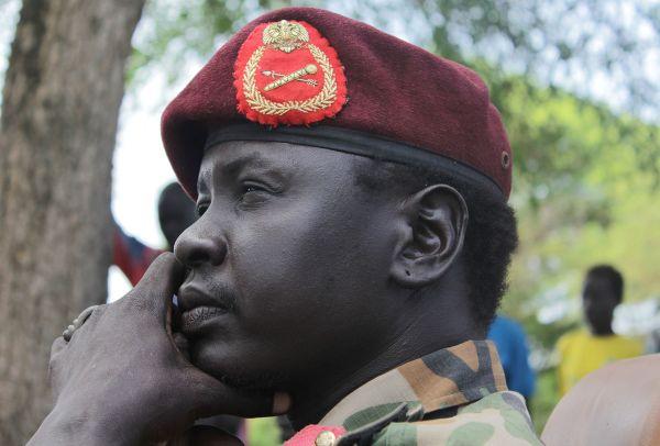Photographer: Ilya Gridneff/Bloomberg Gabriel Duop Lam, The Military governor for SPLM/SPLA held teritories of Jonglei state (Photo: Ilya Gridneff/Bloomberg)