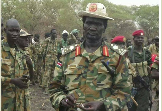 Gen. Makal Kuol Deng, one of the leading SPLA in Opposition Generals in Unity State(Photo: Nyamilepedia)