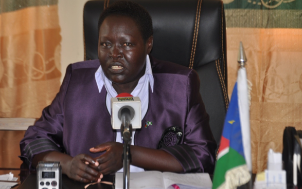 Woman Mayor of Yei late Honorable Cecilia Oba Tito, who was murdered in Juba with her office manger Mr. Lemi.(Photo: file)