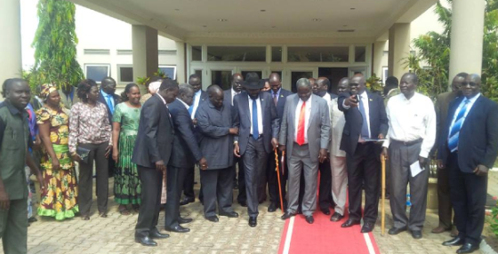 President Kiir and his Loyalists in Juba  2014(Extracted Photo/Nyamilepedia)
