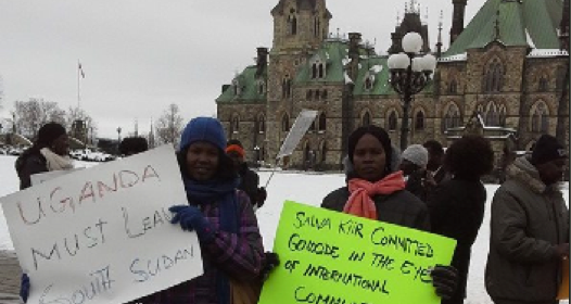 South Sudanese peace protest outside Canada's National Parliament at Parliament Hill, Ottawa, Canada(Photo: supplied)