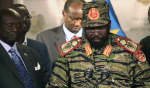 """Salva Kiir, the president, announcing a """"coup"""" in December 2013(Photo: supplied)"""