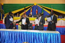 South Sudan warring factions sign a reunification agreement to reunite the warring factions of the ruling party, SPLM(Photo: supplied)