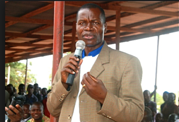 State Governor Bangasi Joseph Bakosoro speaking  in Yambio, in the past(Photo credits:  Joseph Nashion)