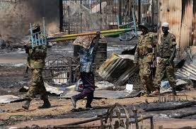 SPLA soldiers looting civilians Properties