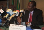 Gen. Taban Deng Gai addressing the media in Ethiopian capital, Addis Ababa, on South Sudan conflict(Photo: file)