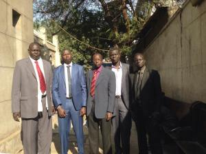 Lou Nuer community members in Cairo, Egypt
