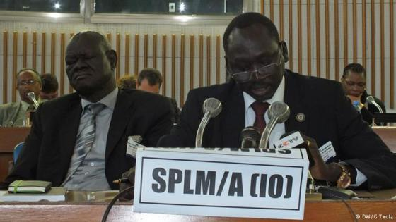 Dr. Dhieu Mathok Diing Wol, Deputy Chief Negotiator SPLM/SPLA with Prof Adwok Nyaba, a lead negotiator for the opposition(Photo: File)