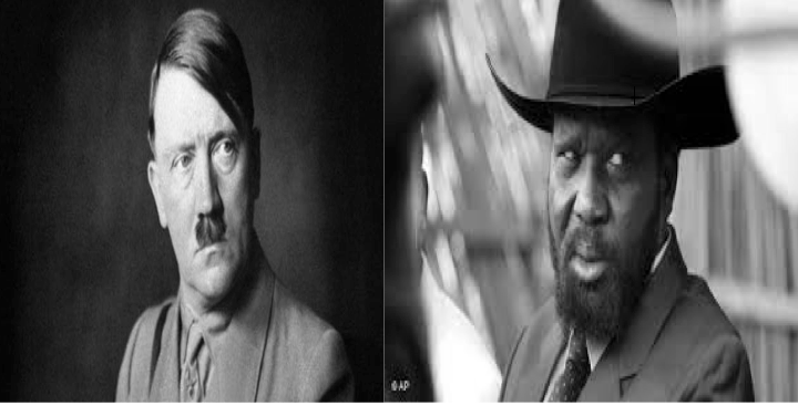 Salva Kiir of South Sudan and Adolf Hitler of Gernmany(Photo: file)