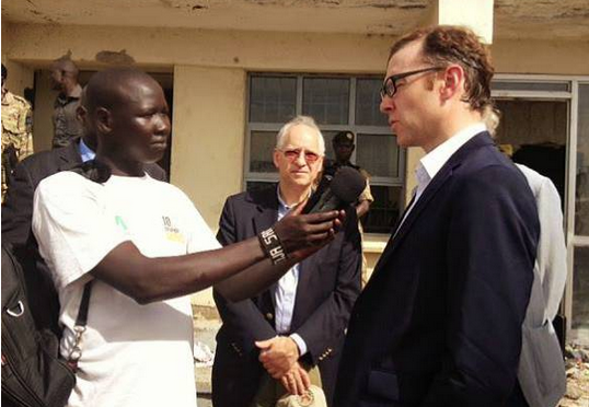 Matt Cornell interviewed at his arrival in Bor in the past (Photo: File/Nyamilepedia)