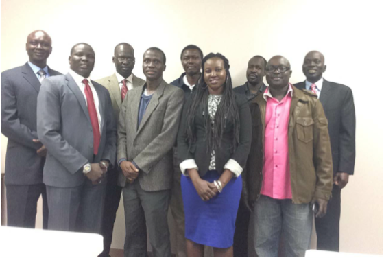 Members of SPLM Mission Office, Washington, D.C., USA.                                                      Photo credit: SPLM Mission
