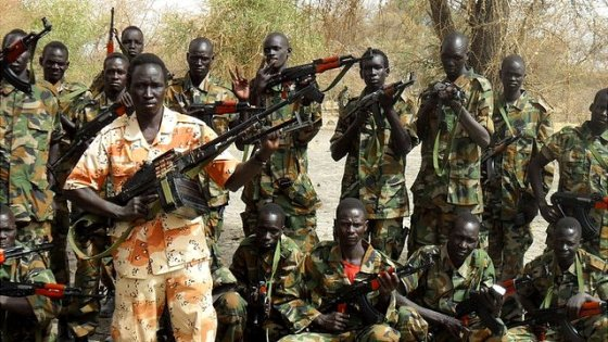 Anti-government fighters at the battle fields in South Sudan in December 2013(Photo: Reuters)