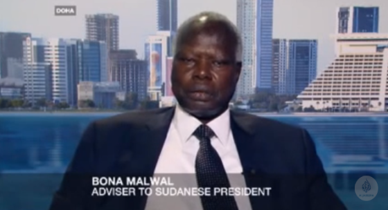 Bona Malwal Madut, an adviser to Sudanese president, Omar el Bashir speaks on behave on Sudan on inside s