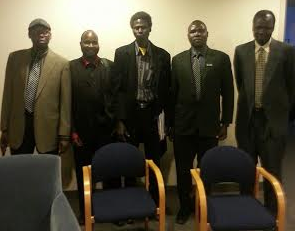 SPLM-IO Mission in Canada post for a picture at Calgary Chapter....