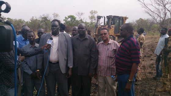 Lt. Gen. David Yau Yau, Gen. Khalid Bora, Joseph Lilimoy and the rest of Cobra Faction posting at Girkidi-Pibor Road