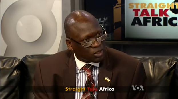 South Sudanese Ambassador to United States,  Garang Diing Akuong (Photo: VOA)