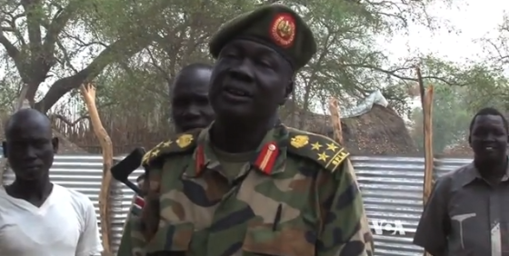Brigadier General William Kuol Chol, the opposition commander in Langken, Nyirol County(Photo: VOA)
