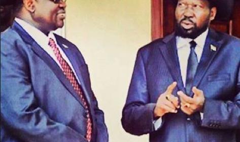 President Salva Kiir Mayaardit and his former Vice President, Dr. Riek Machar Teny(Photo: file/Nyamilepedia)