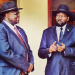 President Salva Kiir Mayaardit and his former Vice President, Dr. Riek Machar Teny(Photo: file/Nyamilepedia)