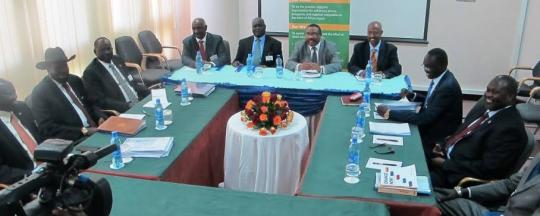 Principals' delegations negotiating the final round of peace agreement in present of mediators in Addis Ababa....